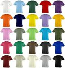 New Kids & Baby 100% Cotton Short Sleeve Basic T-Shirt All Colours.(Sz) 3~12 Age