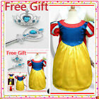 Snow White Princess Girls Festival Dress UP 3-4-5-6-7-8