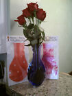 Decorative, Durable, Reuseable, Collapsible Plastic Flower Vase, NIB