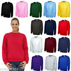 Ladies Sweatshirt Size UK 12 to Plus 28 NEW Sports Casual School 300gsm Plain