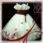 Reds White Bridesmaid Wedding Flowers Girls Dress SIZE 2-3-4-5-6-7-8-9-10Y #R818