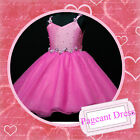 HP875 Hot Pink Christmas Wedding Party Flowers Girls Dresses SIZE 2-3-4-5-6-7-8Y
