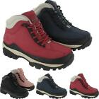 WOMENS LADIES STEEL TOE SAFETY BOOTS WALKING HIKING BOOT TRAINERS  SHOE SIZE 4-8