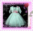 #P05 Pink White Christening Pageant Girls Dress + Cardigan SIZE 2-3-4-5-6-7-8-9Y