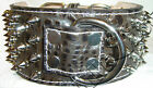 "3"" Wide Crocodile(Embossed Cow) Leather Dog Collar Spiked Center D-Ring"