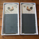 COUNTRY COCKEREL KITCHEN CHALK MEMO BOARD ~ 2 DESIGNS
