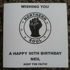 Handmade Personalised Birthday Card Brother Son Father Uncle 16 18 21 30 40 50