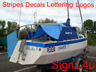 Gloss RED STRIPE x 5m DECAL car van lorry boat taxi motorhome caravan pickups