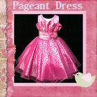 UK_NT HP8811 Hot Pink Christmas Wedding Girls Pageant Dress AGE 2-3-4-5-6-7-8-9Y