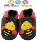 NEW SOFT LEATHER BABY SHOES 0-6, 6-12, 12-18, 18-24 MONTHS - BEE