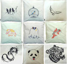 VARIOUS embroidery design cushion covers bird cage elephant dragon tiger & more