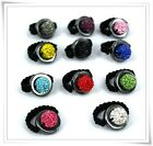 QUALITY PARIS SHAMBALLA RINGS /FREE SIZE 6 -SIZE 9/ ELASTIC BAND/UK SHIPPING