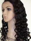 "14""-22"" long Indian Remy Human Hair Lace wigs Front / Full Lace Wigs deep wave"
