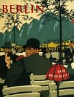 BERLIN Germany Europe Cafe Tourism Travel Fine Vintage Poster Repro FREE S/H