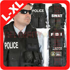 New POLICE SWAT FBI NYPD Vest Jacket Military Army Tactical Fancy Dress Costume