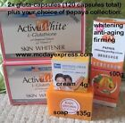 2x Glutathione Capsules Pills +Papaya skin Whitening LOTION CREAM KOJIC SOAP GEL
