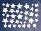 Sheet of 35 Small 'Stars' Kids Bedroom/Room Wall/Cupboard Art Stickers/Transfers