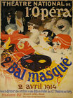 Opera Masked Ball 1914 Theater France Fun Vintage French Poster Repo FREE S/H