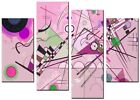 NEW MODERN LARGE PINK CANVAS WALL ART ABSTRACT PICTURE  PRINT FUNKY PINK