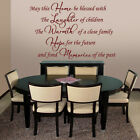May This Home Be Blessed v3 - Wall Decal Sticker Quote lounge hall bedroom