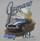Camaro Chevy T-Shirt Gray American Muscle 69 SS Mountain Off Road BABA