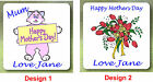 PERSONALISED MOTHERS DAY COASTER /  ANY WORDING OF YOUR CHOICE