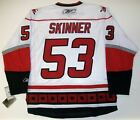 JEFF SKINNER CAROLINA HURRICANES REEBOK PREMIER WHITE ROAD JERSEY NEW WITH TAGS