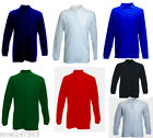 Mens Long Sleeve Polo Shirt Premium Sports Casual Work Sizes XS - 4XL NEW