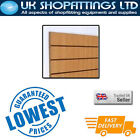 Pack of 8 Oak 4x4 Slatwall Panels + inserts - New