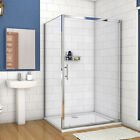 Wlak In Sliding Shower Door Enclosure Screen Cubicle Side Panel+Stone Tray