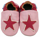 NEW SOFT LEATHER BABY SHOES 0-6, 6-12, 12-18, 18-24 Mths PINK STAR