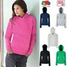 Fruit of the Loom Lady-Fit Hooded Sweat Damen Sweatshirt Hoodie Kapuzen XS - XXL