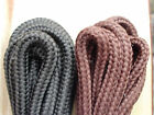 138cm x 5mm Round shoelaces shoe laces Walking, Hiking, Work Boot Black or Brown