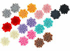 Fancy vintage resin flat back cabochon flowers 13mm 15 pieces