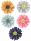 Medium Sunflower Daisy resin flat back cabochon flowers 14mm 15 pieces