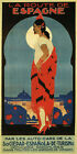 Fashion Girl Route to Spain Travel Voyage Tourism Vintage Poster Repo FREE S/H