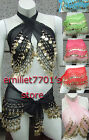 FREE SHIP Gold Avatar Coin Wrap Shawl Belly Dance Bra Hip Scarf Chiffon Carnival