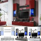 Modern Living Room Furniture Set Cupboard Stand Gloss TV Unit Cabinet Wall Shelf