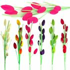 Artificial HAIRY Fruit Flowers!  Multi Colour Eggs! Silk Foliage! LONG STEM leaf