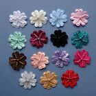 5 Satin Beaded Flower Embellishments- 25mm x 25mm- 16 different colours!
