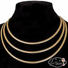 "New Essential 4mm Gold Omega Choker Necklace Chain 16"" 18"" 20"" (CO246 )"