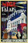 Nice Palais Mediterranee 1928 France French Travel Vintage Poster Repro FREE S/H