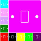 PLAIN COLOURED PINK,BLACK,BLUE,RED GREEN LIGHT SWITCH COVER,STICKER,DIMMER