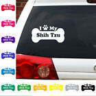 I Heart Love My shih tzu decal sticker