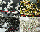500pcs Silver Plated/Golden/Dark Silver/Black Colour Crimp End Spacer Beads 2mm