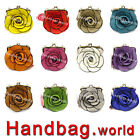 Ladies Faux Leather Rose Flower Mini Purse Clutch Bag Cross Body Bag Satchel Bag