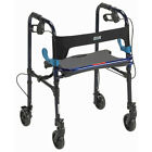 Drive Medical Clever-Lite Walker with Seat and Loop Locks - Junior Or Adult.