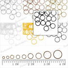 Free Ship 7 Colors New Iron Round Open Jump Rings 500g/1000g 9 Sizes Assorted
