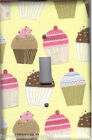 Light Switch Plate & Outlet Covers KITCHEN ~ CUPCAKE / MUFFINS BAKING YELLOW