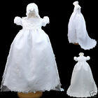 NEW Baby Girl Baptsim Christening Formal Dress Gown size New born-30 M White